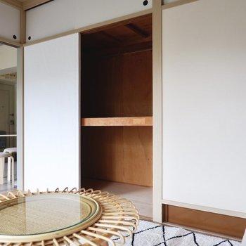 各部屋に大容量の押し入れ収納があります。※写真はDIYモデルルームのものです