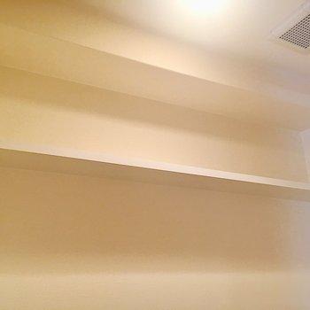 上には長めの棚が付いていました!