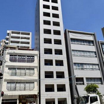 12階建のすらっとしたマンションです!