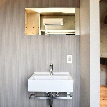 居室に洗面台…!さすがデザイナーズ。