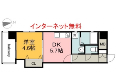 MBS Building南竹屋の間取り
