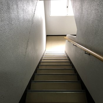 階段は幅が少し狭いので、大きな家具や荷物を運ぶ際は気をつけましょう。