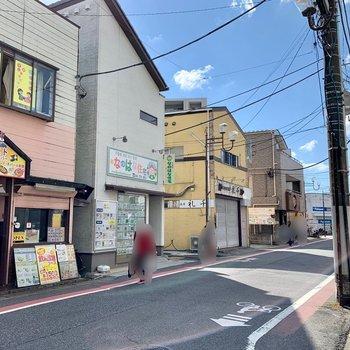 駅周辺には飲食店がいくつか。のどかな雰囲気でした。