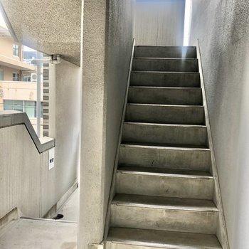 そして細長い階段。気をつけて登ってくださいね!