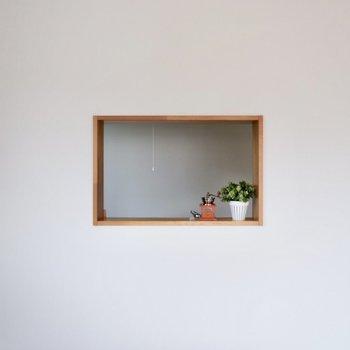 【LDK】小振りなキッチン窓がカワイイですね。