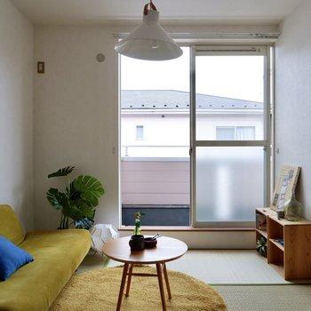 【和室】ライトグリーンの家具が井草と好相性ですよ。