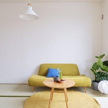 【和室】淡い色合いの北欧家具もよく馴染みそう。