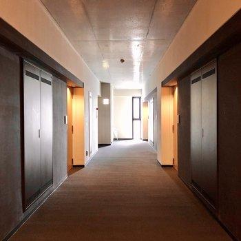 共用部分。ホテルのようで上質な廊下でした。