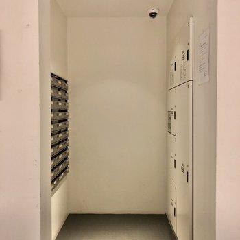 マンションには宅配ボックス付きで急な荷物も安心です。