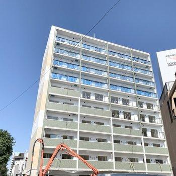 現在建設中の鉄筋コンクリートマンションです。
