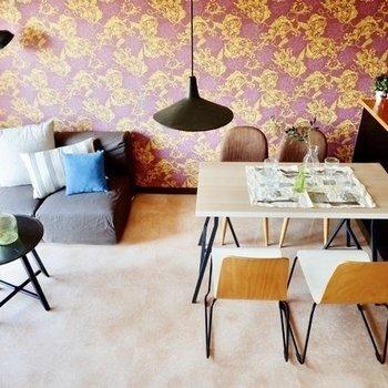 【LDK】家具の色味は抑えると、バランスの良い空間になりそう。