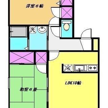 お部屋はゆったりとした2LDKです。