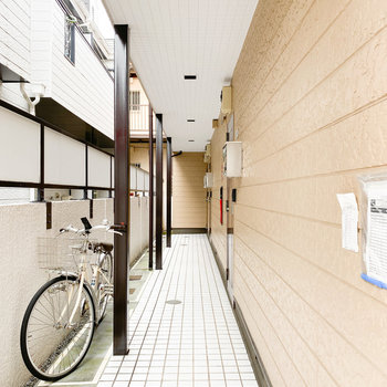 スッキリとした共用廊下