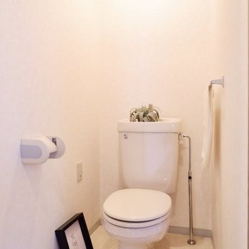トイレは落ち着く個室です。