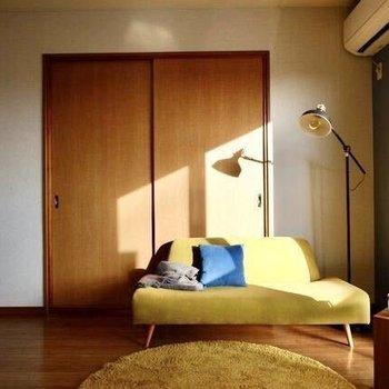【LDK】パステルカラーなど穏やかな色合いの家具が似合いそうです。