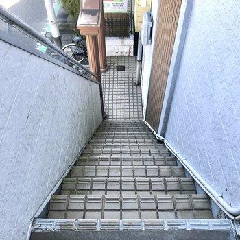 2階まではこちらの階段をご利用ください。