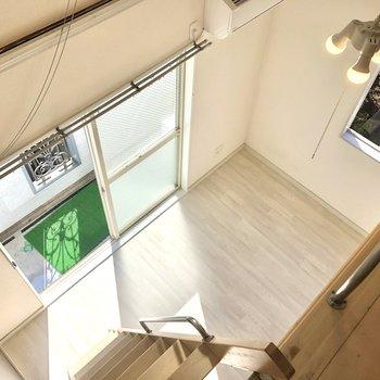 【ロフト】居室スペースもよく見えます。
