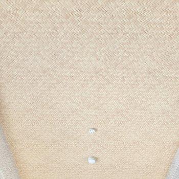 【洋室】天井のデザインは網目模様となっていました。お洒落!※クリーニング前の写真です