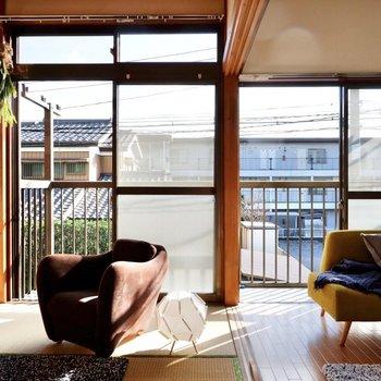 和室と洋室の間にある、ふすまを取り払うと空間をとっても広く使えます。