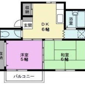 生活スペースを分けられる2DK。