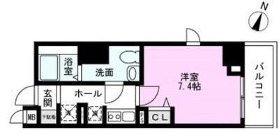 T―CASTLE江北(てぃーきゃっするこの間取り