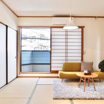 【和室】開放感のある和室。観葉植物を置くことで、空間がより一層華やぎます。