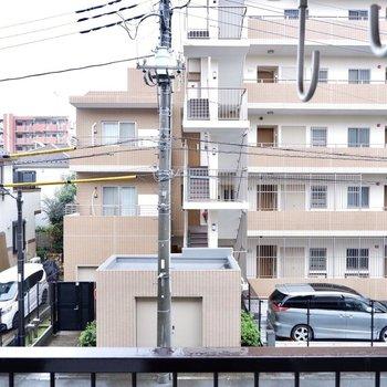 眺望は通り向かいの建物。