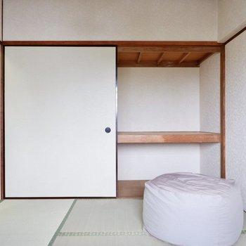 【和室】和室は北欧家具と相性が良く、布団にこだわらずベッドを置くのもいいですよ。