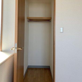 【洋室約4.8帖】ウォークインクローゼットです。季節ものの家電も入れられます。