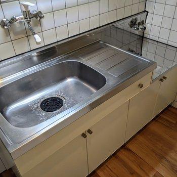 家事のしやすい広いシンクのキッチンです。
