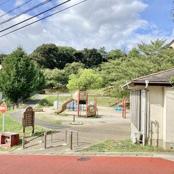 近くには緑豊かな公園もありますよ!
