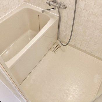 身体を洗うスペースもしっかりあります。