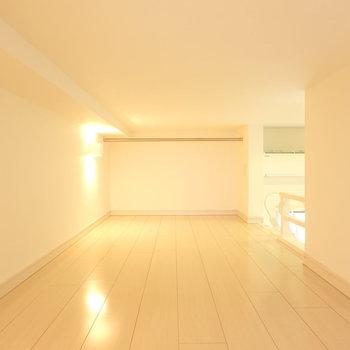 反対側から。意外と高さもあるので、ここを寝室にしてもいいかも。(※写真は1階の反転間取り別部屋のものです)