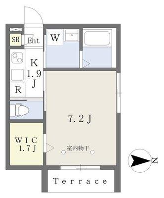 (仮)渋谷区笹塚1丁目新築計画の間取り