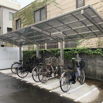 有料の自転車置き場です。