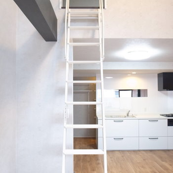 ではハシゴを登って3階部分へ!