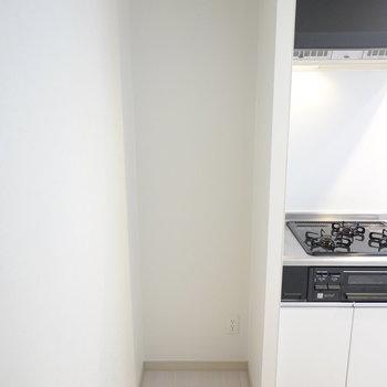 右側はその他の家電置き場やパントリーとして使えそう。(※写真は同間取り別部屋のものです)