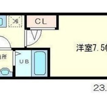 シンプルな1Kのお部屋。