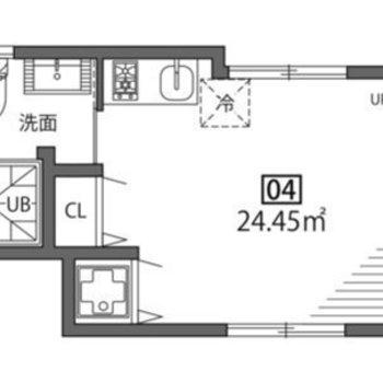 お部屋は2階。玄関は1階です。