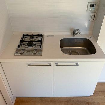 縦型の二口キッチン。