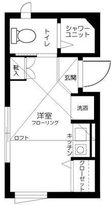 ファーストハウス北新宿の間取り