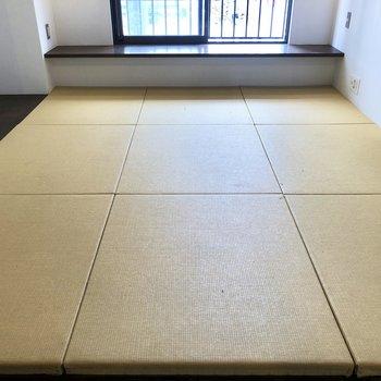 洗練された空間にも馴染む琉球畳が使われています。