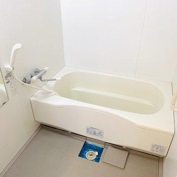 バスルームもゆったりと。足を伸ばしてリラックスできそうなバスタブですね。