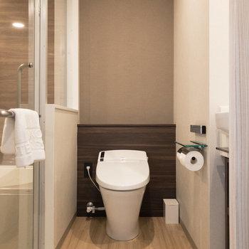 脱衣所です。トイレと洗面台も同室です。