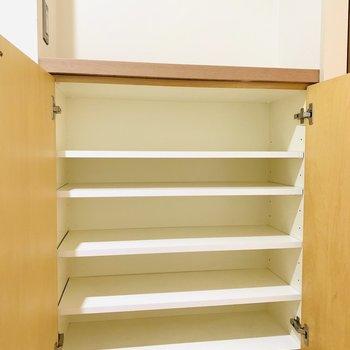 上部には鍵などが置けそうです。(※写真は6階の同間取り別部屋のものです)