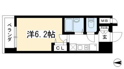 プレサンス京都駅前Ⅱの間取り