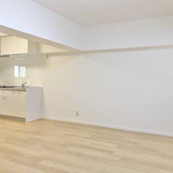 どーんと広いので、家具の配置に困りません。