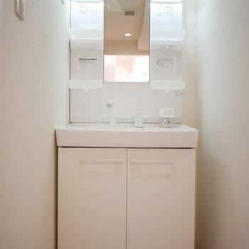 独立洗面台(※写真は3階の反転間取り別部屋のものです)