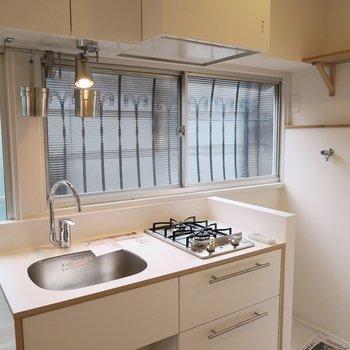 洗濯機置場はキッチンの隣に!※写真は似た間取り別部屋のものです