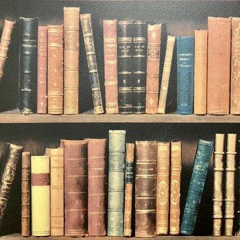 【ディテール】本棚のようなクロス。秘密の書斎みたいでワクワクする……!